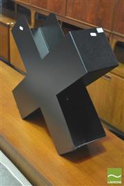 Sale 8310 - Lot 1077 - Swiss MOS Cross Shaped Metal Book Trough