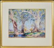 Sale 8363 - Lot 566 - Herbert Reginald Gallop (1890 - 1958) - On the Creek 35.5 x 46cm