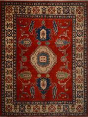 Sale 8390C - Lot 30 - Afghan Kazak 240cm x 186cm