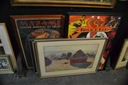 Sale 8441T - Lot 2049 - Collection of (7) Framed Decorative Prints, various sizes