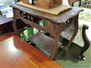 Sale 8657 - Lot 1080 - Tiered Timber Side Table