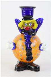 Sale 8818 - Lot 85 - Murano Glass Clown Candlestick