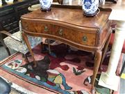 Sale 8868 - Lot 1530 - Bur Walnut 2 Drawer Hall Table