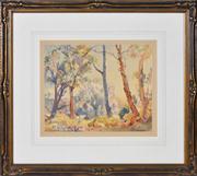 Sale 8363 - Lot 553 - Hans Heysen (1877 - 1968) - Morning Light and Billy Goat 32 x 39.5cm