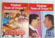 Sale 8404S - Lot 55 - 1992 Big league State of Origin Programmes. First Game 6th May, Sydney; plus Third Game 3rd June, Sydney