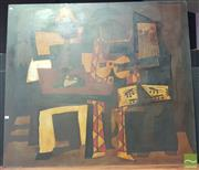 Sale 8451 - Lot 1022 - Artist Unknown (XX) - Untitled (Jazz Trio) 120 x 136cm