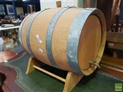 Sale 8495F - Lot 1032 - Wine Barrell on Stand