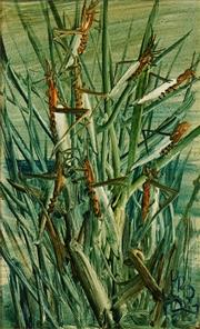 Sale 8597 - Lot 521 - Kevin Charles (Pro) Hart (1928 - 2006) - Grasshoppers 42 x 25.5cm
