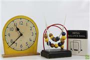 Sale 8608 - Lot 9 - Vintage Toys Including Clock And Metal Balance Balls