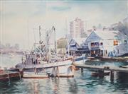 Sale 8675 - Lot 505 - Allan Waite (1924 - 2010) - Lavender Bay 48.5 x 66cm