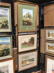 Sale 8730 - Lot 2069 - Three English and Australian Country Scenes by A Sinclair, framed and various sizes