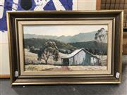 Sale 8789 - Lot 2145 - Peter Krak - Country NSW Landscape, oil on board, 32 x 49cm, signee lower left
