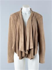Sale 8800F - Lot 2 - A Sass and Bide suede bolero with cascading lapels, size US 8