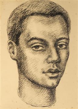 Sale 9099A - Lot 5098 - Wallace Thornton (1915 - 1991) - Lenwood Morris, 1957 28 x 20 cm (frame: 48 x 41 x 2 x 2 cm)