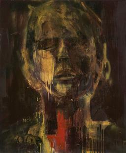 Sale 9174JM - Lot 5079 - MIA OATLEY (1977 - ) Untitled (Portrait) oil on canvas 122 x 101 cm unsigned