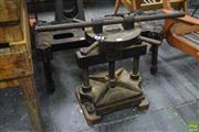 Sale 8550 - Lot 1084 - Vintage Telford and Wilson Cast Iron Book Press