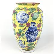 Sale 8607R - Lot 13 - Xi Jinping Dynasty Famille Jean Vase Depicting Vases (H: 31cm)