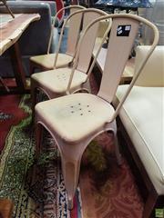 Sale 8637 - Lot 1023 - Set of Six Tolix Style Chairs