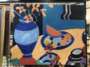 Sale 8824 - Lot 2034 - Artist Unknown - Summer Still Life #2, 2009, acrylic on canvas, 51 x 61cm, signed lower right