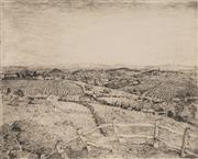 Sale 8881 - Lot 597 - Lloyd Rees (1895 - 1988) - North Western Tasmania, 1977 24.5 x 19.5 cm