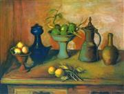 Sale 8938 - Lot 539 - Margaret Olley (1923 - 2011) - Turkish Pots and Lemons, 2004 59 x 78cm