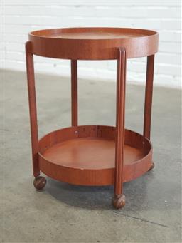 Sale 9154 - Lot 1083 - Art Deco drinks trolley (h:59 x d:46cm)