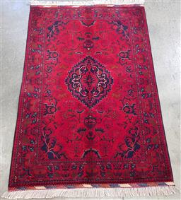 Sale 9191 - Lot 1080 - Hand knotted Pure Wool Super Fine Afghan Belgic (150 x 100cm)
