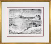 Sale 8325 - Lot 509 - Lloyd Rees (1895 - 1988) - Untitled, 1983 (Sandy Bay Series) 44.5 x 58.5cm