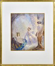 Sale 8363 - Lot 552 - Norman Lindsay (1879 - 1969) - The Peacock, 1918 30.5 x 27.5cm