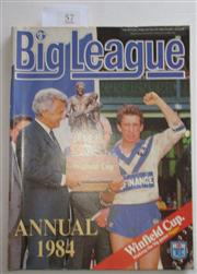 Sale 8404S - Lot 57 - 1984 Big League Annual Magazine, showing Steve Mortimer (Canterbury) & Bob Hawke on front cover