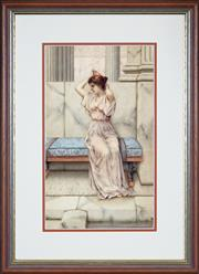 Sale 8427 - Lot 591 - William Anstey Dollond (1858 - 1929) - The Frigidarium 41.5 x 24.5cm