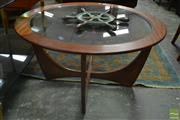 Sale 8528 - Lot 1034 - Atmos Coffee Table with Glass Top[