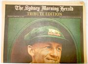 Sale 8460C - Lot 12 - Sydney Morning Herald Tribute Edition. Tuesday February 27, 2001 to Don Bradman. 10 tabloid pages. Very good.