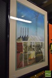 Sale 8513 - Lot 2062 - Paula Schmeherd - Industrial Scene, 1988 140 x 106cm