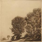 Sale 8640 - Lot 2024 - Gerrard Gayfield Shaw (1885 - 1961) - Falling Leaves, Bathurst 20.5 x 20.5cm