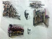Sale 8655A - Lot 5018 - Brett Whiteley (1939 - 1992) - Untitled (Sketches), c1958 19.5 x 28.5cm