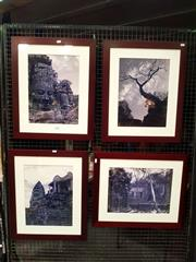 Sale 8668 - Lot 2070 - 4 Framed Photographs of Thai Temple Ruins