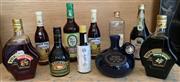 Sale 8510A - Lot 17 - Ten bottles of vintage liquer including Vok, Cherry Brandy, Creme De Menthe and other favourites