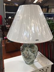 Sale 8868 - Lot 1586 - Pair of Belgium Hand Painted Floral Table Lamps (2950)