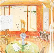 Sale 9009A - Lot 5049 - Brett Whiteley (1939 - 1992) - (studio) 47 x 47 cm (frame: 83 x 83 x 3 cm)