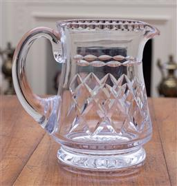 Sale 9190H - Lot 94 - An English Stuart hand cut lead crystal Jug C: 1940s