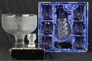 Sale 8445 - Lot 32 - Bohemia Crystal Drinks Suite, Iittala Glass & Pedestal Bowl