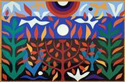 Sale 8756A - Lot 5011 - John Coburn (1925 - 2006) - Tree of Life, 1988 74.5 x 55cm