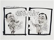 Sale 8883A - Lot 5014 - Bill Leak (1956 - 2017) - The Bleak Picture: Mahathir Mohamad 23 x 36 cm
