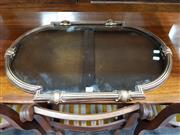 Sale 8834 - Lot 1096 - Oval Gilt Framed Mirror
