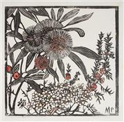 Sale 9009A - Lot 5071 - Margaret Preston (1875 - 1963) - Tea Tree and Hakea Petiolaris 48 x 48 cm (frame: 83 x 83 x 3cm )