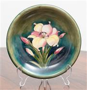 Sale 9070H - Lot 79 - A Moorcroft Tigerlily bowl on green ground, signed and stamped to base diameter 22cm