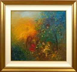 Sale 9150J - Lot 90 - DAVID BOYD (1924 - 2011) Children Playing oil on canvas 60 x 65 cm signed lower left & dated 1972 lower right