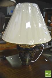 Sale 8352 - Lot 1035 - Pair of Italian Cobalt Blue Table Lamps (3335)