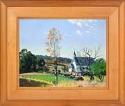 Sale 8363 - Lot 544 - William Bustard (1894 - 1973) - Untitled (Sunday Gathering) 32 x 41.5cm